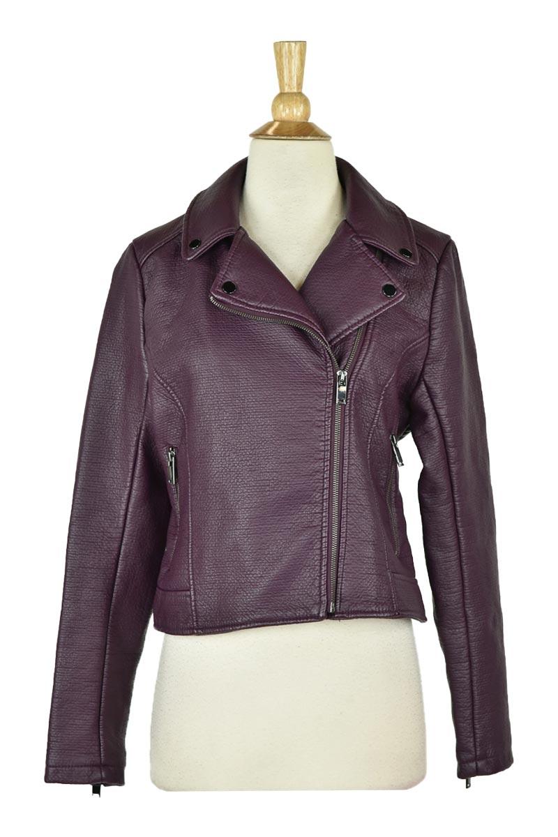 New York & Company Women Coats & Jackets Leather & Faux SM P